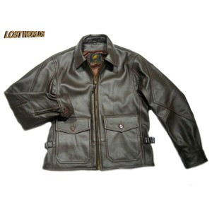 LOSTWORLD(ロストワールド)/G-8 RAIDER SEAL BROWN GOAT SKIN FLIGHT JACKET/brown/made in U.S.A.