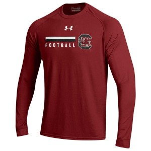 アンダーアーマー メンズ トップス Tシャツ【Under Armour College Sideline Tech L/S T-Shirt】Maroon