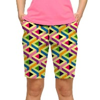 LoudMouth Ladies Block Party Bermuda Pants【ゴルフ レディース>パンツ】