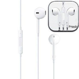 Earphones with Remote and Mic (iPod・iPhone用イヤホン) スマホ 多機種対応 最新型 イヤホン リモコン付き マイク付き (ホワイト)