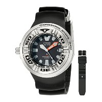 CITIZEN[シチズン] MODEL NO.bj8050-08e Men's ECO-DRIVE WR300 Professional Diver Black Rubber Strap...