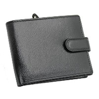 Mens RFID BLOCKING Luxury Black Genuine Leather Wallet With Secure Zip Coin Pocket & ID Window Gift...