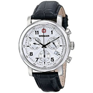 [ウェンガー]Wenger 腕時計 Urban Classic Chrono Analog Display Swiss Quartz Black Watch 01.1043.105 メンズ ...