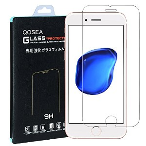 iPhone 7 強化ガラスフィルム【Qosea】iPhone7 4.7液晶保護フィルム 日本製素材旭硝子製 3D touch 対応 硬度9H 指紋防止 飛散防止 気泡ゼロ 超薄0.3mm 2.5D...