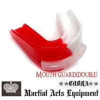 COBRA ダブルマウスピース(ケース付き)MOUTH GUARD WHITE/RED