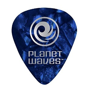 Planet Waves by D'Addario プラネットウェーブス ピック 1CBUP4-25 Celluloid Blue Pearl 0.70mm スタンダード型 25枚入り 【国内正規品】