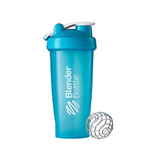 BlenderBottle Classic Loop Top Shaker Bottle, Aqua, 28 Ounce by Blender Bottle
