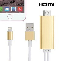 2in1 type (Android, iOS) スマホ 共用Lightning to HDMI 変換ケーブル iPad/iPod/ Android スマホ (Xperia, SIM free)対応