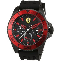 フェラーリ Ferrari Men's 'XX Kers' Quartz Stainless Steel and Silicone Casual Watch, Color:Black (Model:...