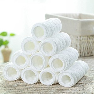 LexBlue(TM)BS#S10 PCS Reusable Baby Cloth Diaper Nappy Liners Insert 3 Layers Cotton Soft and...