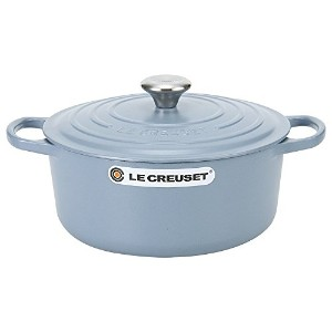 Le Creuset ルクルーゼ SIGNATURE シグニチャー Cocotte ronde 26cm ココットロンド Mineral Blue ミネラルブルー 両手鍋 [並行輸入品]