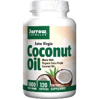 海外直送品Jarrow Formulas Coconut Oil 100% Organic Extra Virgin, Extra Virgin 120 Softgels 1000 mg(Pack...