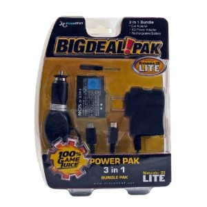 Nintendo DS Lite Power Pak 3 in 1 Bundle Black (輸入版)
