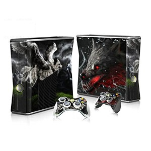 XBOX 360 Slim Skin Design Foils Faceplate Set - Wolf Design