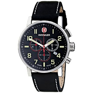 [ウェンガー]Wenger 腕時計 Commando Chrono Analog Display Swiss Quartz Black Watch 01.1243.104 メンズ [並行輸入品]