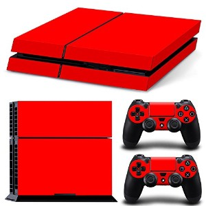 FriendlyTomato PS4専用 Skin プレイステーション4用スキンシール - Red Color - PlayStation 4 Vinyl Colour