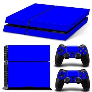 FriendlyTomato PS4専用 Skin プレイステーション4用スキンシール - Blue Color - PlayStation 4 Vinyl Colour