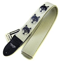 Couch Guitar Strap ギター用ストラップ Wolf Guitar Strap (White)