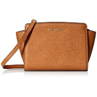 【お取り寄せ】MICHAEL Michael Kors Women's Selma Medium Messenger Bag, Luggage, One Size