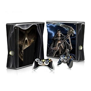 XBOX 360 Slim Skin Design Foils Faceplate Set - Grim Reaper Design