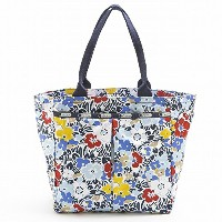 LeSportsac レスポートサック トートバッグ 7891 Everygirl Tote D834 Ocean Blooms Navy [並行輸入商品]