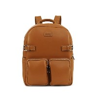 LOTUFF バックパック ビジネスバッグ デイパックLO-1632 PCバッグ 男女兼用 ロトプ Unisex Leather Backpack (CAMEL BROWN) [並行輸入品]