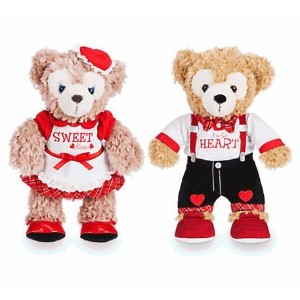 Disney(ディズニー) Duffy and ShellieMay the Disney Bears Plush Set - Valentine's Day - Small - 9'' ダッフィー...