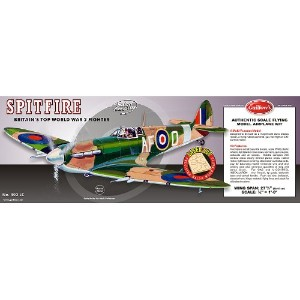 Guillow's 403LC スーパーマリン・スピットファイヤーWWII戦闘機バルサキット- Supermarine Spitfire