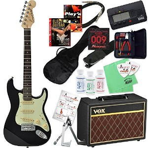 Compact Guitar コンパクトギター CST-60s (BLK/R) &VOXアンプ ミニサイズ・エレキギター入門20点セット