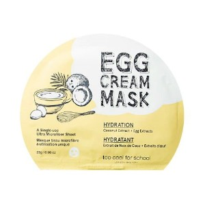 (6 Pack) TOO COOL FOR SCHOOL Egg Cream Mask (Hydration) (並行輸入品)
