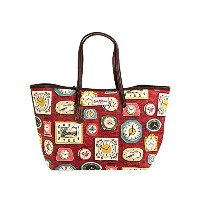 Cath Kidston キャスキッドソン トートバッグ 458627 Leather Trim Tote Large Clocks Red 「ギフトセット付き」 アウトレット