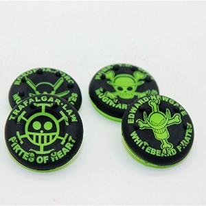 Thumbstick Grips for PS4 XBOX WII U Switch - Caps for all Controllers - Pirates Green