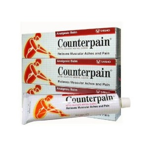 COUNTERPAIN, Hot Heat Analgesic Warm Balm Cream Muscle Pain Tension Relief 120g. (3 Packs) by...