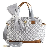 Mud Pie Bigger Bundle Diaper Bag Tote, Gray by Mud Pie