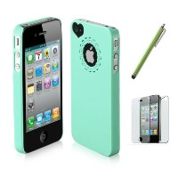 SODIAL(TM) Dexule Light Green Cute Girls Ultra-thin Ice Cream Glossy Hard Case Cover for iPhone 4...