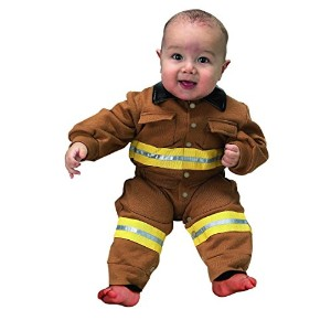 Jr. Fire Fighter Suit Tan Infant Costume ジュニアファイアファイタースーツタン幼児コスチューム サイズ:6 to 12 Months