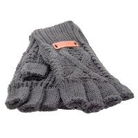 Aran Traditions Steel Grey Fingerless Gloves