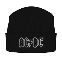 ACDC ビーニーハット ホワイト Outline Band Logo 公式 メンズ 新しい ブラック One Size