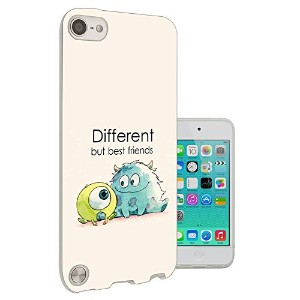 177 - Cool Fun Monsters Different But Best Friends Apple ipod Touch 6 ゲルシリコン ファッショントレンド スマートフォンケース...