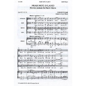 Edward Elgar: Fear Not, O Land. Partitions pour SATB/Accompagnement Orgue