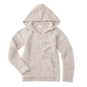Barefoot Dreams Cozychic Heathered Women's Zip Up Hoodie [ #665 ] (サイズ:XS、カラー:Stone-White) [並行輸入品]