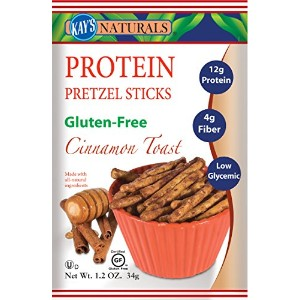 Kay's Naturals Protein Pretzel Sticks, Cinnamon Toast, 1.2 ounces (Pack of 6) by Kay's Naturals ...