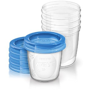 Philips AVENT Breast Milk Storage Cups, 6 Ounce by Philips AVENT