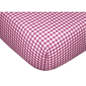 Tadpoles Classic Gingham Fitted Sheets - Set/2 - Fuchsia by Tadpoles