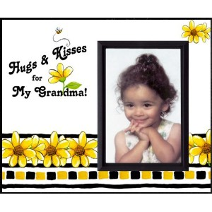 Hugs & Kisses for My Grandma - Picture Frame Gift by Expressly Yours! Photo Expressions