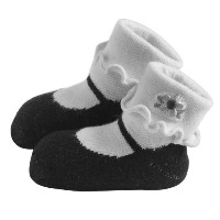 Jazzy Toes Rayon Collection Mary Janes Sock Set - Black-6-12M by Jazzy Toes