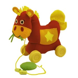 Giggle Toys Giddy Up Pull Toy, Western Red by Giggle Toys