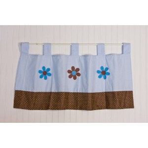 Pam Grace Creations Pam's Petals Valance, Blue by Pam Grace Creations