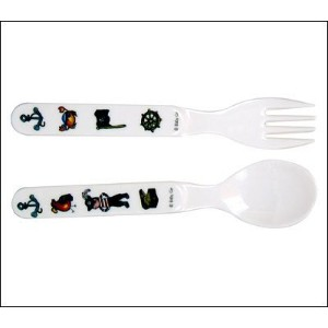 Baby Cie Fork & Spoon - Pirate - Black by Baby Cie