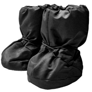 7A.M. ENFANT 212 Soft -Soled Booties, Water Repellent Insulated and Quilted - Black, Medium by 7A.M...